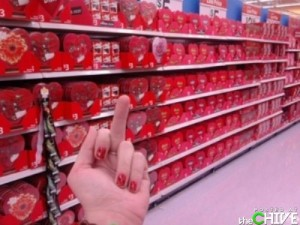 valentine middle finger