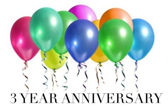 3 years balloons